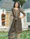 image of Exclusive Black Color Plus Size Bagru Block Print Chanderi Kurta Dupatta Set