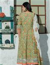 photo of Exclusive Sea Green Color Plus Size Floral Hand Block Print Kurta Dupatta Set