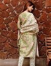 photo of Exclusive Green Color Plus Size Block Print Chanderi Kurta Dupatta Set