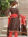 photo of Exclusive Black Color Plus Size Hand Block Print Cotton Kurta Set With Chanderi Dupatta