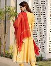 photo of Exclusive Yellow Color Gota Flared Kurta Dupatta Set