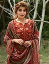 photo of Exclusive Red Color Casual Wear Fancy Fabric Readymade Salwar Suit