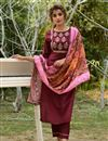 image of Exclusive Casual Wear Fancy Fabric Readymade Salwar Suit In Maroon Color