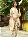 image of Exclusive Casual Wear Beige Color Fancy Fabric Readymade Salwar Suit