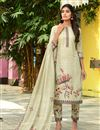 image of Exclusive Cream Color Casual Wear Fancy Fabric Readymade Salwar Suit