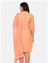 photo of Peach Color Casual Wear Cotton Fabric Salwar Kameez