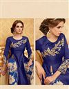 photo of Beautiful Blue Color Party Wear Palazzo Suit With Embroidery Work