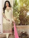 image of Cream Color Long Length Ayesha Takia Georgette Salwar Kameez With Embroidery Work