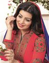 photo of Designer Festive Wear Ayesha Takia Georgette Salwar Kameez In Red Color
