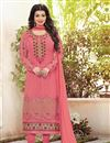image of Pink Color Designer Party Wear Georgette Salwar Suit With Embroidery Work