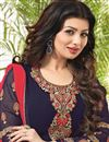 photo of Charming Ayesha Takia Blue Color Designer Georgette Suit With Embroidery Work
