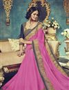 photo of Comforting Georgette Fabric Embroidered Saree In Pink Color