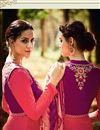 photo of Tremendous Pink Color Cotton And Satin Designer Party Wear Salwar Kameez With Embroidery Work
