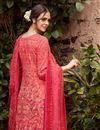 photo of Cotton Digital Print Pink Straight Cut Suit