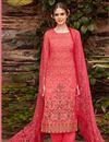 image of Cotton Digital Print Pink Straight Cut Suit