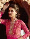 photo of Georgette Fabric Anarkali Salwar Kameez In Pink Color