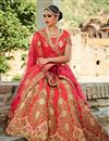 image of Pink Color Spectacular 3 Piece Bridal Wear Lehenga
