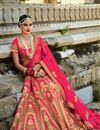 image of Soothing Silk Fabric Bridal Lehenga Choli