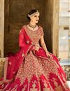 image of Magnetic Silk Fabric Designer Bridal Lehenga Choli