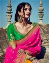 picture of Magnificent Banarasi And Silk Embroidered Pink And Orange Color Saree With Designer Banarasi Blouse