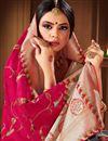 photo of Banarasi Style Art Silk Puja Wear Rani Color Weaving Work Saree