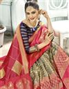 photo of Pink Color Designer Saree In Art Silk Fabric With Weaving Work Designs And Attractive Blouse