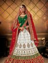 image of Heavy Embroidered White Color Wedding Wear Lehenga Choli
