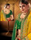 photo of Satin Fabric Wedding Wear 3 Piece Lehenga