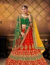 image of Satin Fabric Wedding Wear 3 Piece Lehenga