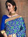 photo of Function Wear Designer Art Silk Saree In Blue With Weaving Work