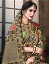 photo of Sangeet Function Wear Designer Weaving Work Saree In Brown Art Silk