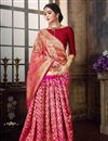 image of Pink Function Wear Traditional Art Silk Designer Weaving Work Saree
