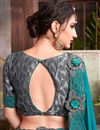 photo of Engaging Fancy Fabric Sky Blue Color Designer Saree With Embroidery Work