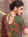 photo of Classic Embroidery Work Designs On Fancy Fabric Occasion Wear Saree In Maroon Color