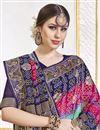 photo of Trendy Sea Green Color Function Wear Viscose Fabric Weaving Work Saree