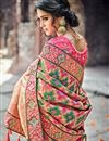 photo of Designer Function Wear Heavy Work Fancy Saree In Banarasi Silk
