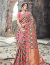 image of Designer Function Wear Heavy Work Fancy Saree In Banarasi Silk