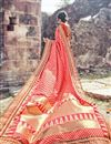 photo of Weaving Designs On Crimson Occasion Wear Saree In Banarasi Silk