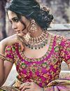 photo of Weaving Designs On Light Brown Banarasi Silk Function Wear Saree
