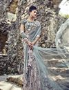 image of Wedding Function Wear Net Fancy Designer Saree