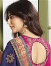photo of Chitrangada Singh Reception Wear Fancy Fabric Embroidered Navy Blue Saree