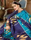 photo of Weaving Work On Sky Blue Art Silk Fabric Designer Saree Wth Captivating Blouse