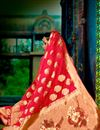 photo of Ravishing Pink Color Designer Party Wear Saree In Traditional Silk Fabric With Weaving Work