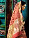 photo of Attractive Designer Traditional Silk Party Wear Saree In Pink Color With Matching Blouse