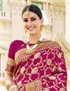 photo of Dark Pink Color Party Wear Art Silk Fabric Fancy Weaving Work Saree