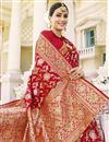 photo of Sangeet Wear Red Color Art Silk Fabric Weaving Work Fancy Saree