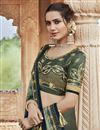 photo of Fancy Fabric Party Wear Chic Grey Color Embroidered Saree