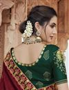 photo of Maroon Color Chic Party Wear Fancy Fabric Embroidered Saree