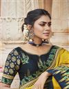photo of Fancy Fabric Chic Party Style Yellow Color Embroidered Saree