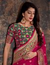 photo of Rani Color Banarasi Silk Function Wear Designer Weaving Work Saree